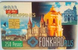 PLDT Chip Card 250 Pesos Century Old Churches Exp 9/30/99 - Filippine