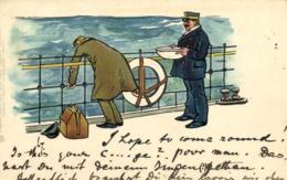 Illustrateur Le Mal De Mer RV  TUCK Beau Timbre Cachet Ney York - Peintures & Tableaux