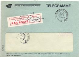 Télégramme Téléphoné à Distribuer - Meaux 1981 Avec Télégramme à L'intérieur Enveloppe - Télégraphes Et Téléphones
