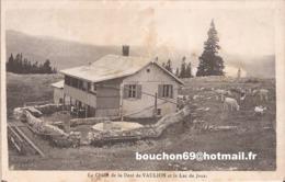 Suisse - Vaud - Vaulion - Chalet Et Sommet De La Dent De Vaulion Et Le Lac De Joux Ziegen Goat Chalet Vaches - VD Vaud