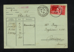 """"""" CARTE POSTALE COMMERCIALE POUR EXPEDITION DE LESSINES (BELGIQUE) VERS CHAULNES (FRANCE) """" CACHET POSTAL 1/03/1935 - Other"""