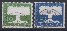 Europa Cept 1957 Germany 2v Used (44620) - 1957