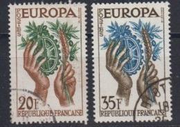 Europa Cept 1957 France 2v Used (44620B) - 1957