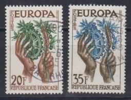 Europa Cept 1957 France 2v Used (44620C) - Europa-CEPT
