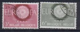 Europa Cept 1960 Belgium 2v Used (44621) - 1960