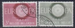 Europa Cept 1960 Belgium 2v Used (44621A) - 1960