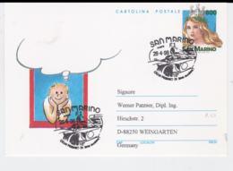 San Marino Postal Stationary San Marino 1998 F1 Racing Car Ill.  (T8-34) - Automobile