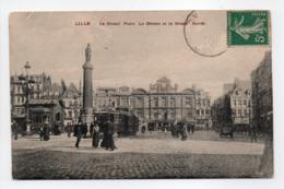 - CPA LILLE (59) - La Grand' Place 1912 - La Déesse Et La Grand' Garde (belle Animation) - - Lille