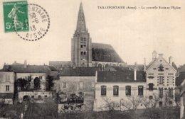 S2764 Cpa 02 Taillefontaine - La Nouvelle Ecole Et L'Eglise - France