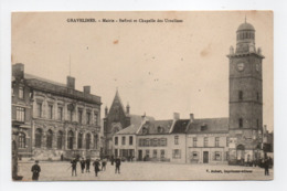 - CPA GRAVELINES (59) - Mairie - Beffroi Et Chapelle Des Ursulines (HOTEL DU COMMERCE) - Edition V. Aubert - - Gravelines