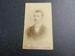 7ogg) ANTICA FOTOGRAFIA PHOTO FOTOGRAFO HEINR. HARMSEN WIEN HAUPTSTRASSE 1894 - Antiche (ante 1900)