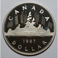 CANADA - 1 DOLLAR 1987 - BELLE EPREUVE - - Canada