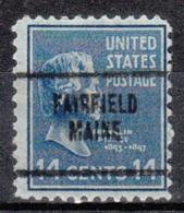 USA Precancel Vorausentwertung Preo, Locals Maine, Fairfield 704 - Vereinigte Staaten