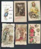 LOT DE 6 IMAGES PIEUSES : - Images Religieuses