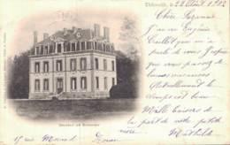 RARE  27 THIBERVILLE CHATEAU DU BAUDRIEU CARTE PRECURSEUR CIRCULEE 1902 - France