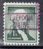 USA Precancel Vorausentwertung Preo, Locals Maine, Fredom 819 - Vereinigte Staaten