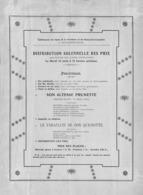 Bois-d'Haine - Etablissement Des Soeurs De La Providence - Distribution Des Prix - Programma's