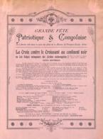 Arlon - Grande Fête Patriotique & Congolaise - 1910 - Maison St François-Xavier - Programmes