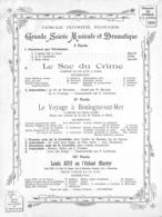 Cercle Ouvrier Elouges - Grande Soiréee Musicale Et Dramatique 1908 - Programma's