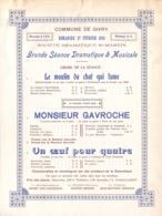 Commune De Givry - 1910- Grande Séance Dramatique & Musicale - Programmes