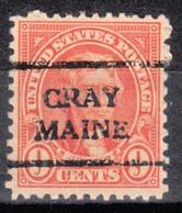 USA Precancel Vorausentwertung Preo, Locals Maine, Gray 641-708 - Vereinigte Staaten