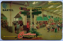 92CBDC B$10 Cruise Terminal  With Slash C/n - Barbades
