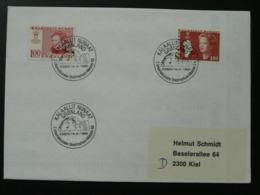 Slania Stamps Postmark Essen Briefmarken Messe 1988 On Cover Greenland 69884 - Marcofilia