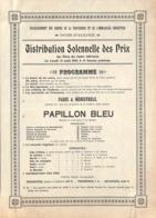 Bois-d'Haine - Etablissement Des Soeurs De La Providence - Distribution Des Prix  1910 Papillon Bleu Opérette - Programma's