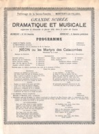 Montigny Le Tilleul - Patronage De La Sainte-Famille - Grande Soirée Dramatique Et Musicale 1910 Salon Du Casino - Programma's