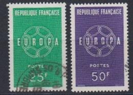Europa Cept 1959 France 2v Used (44623B) - 1959