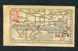 "Ticket Billet Tramway Années 50 ""Tramways De Mayence (Mainz - Allemagne) / 20pf"" - Europe"