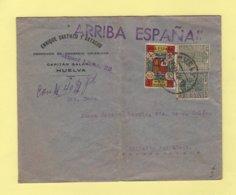 Espagne - Arriba Espana - Huelva Pour Les Acores - Nationalistische Zensur