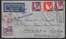 1940 - NEDERL. INDIE - DUTCH EAST INDIES - Double Censor PASSED FOR TRANSMISSION + OKW Strip - Soerabaja To Herrnhut - Netherlands Indies