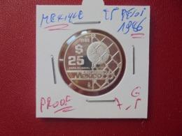 "MEXIQUE 25 PESOS 1986 ARGENT ""PROOF"" (A.10) - Mexico"