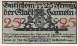 25 Pfg..Notgeld Stadt Hameln UNC (I) - [11] Lokale Uitgaven