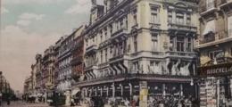 Bruxelles Boulevard Anspach Grand Bazar Avec Attelages Et Tram - Avenues, Boulevards