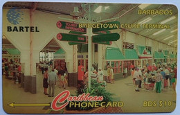 88CBDD  B$10 Cruise Terminal  Without Slash C/n - Barbades