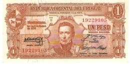 URUGUAY 1 PESO 1939 PICK 35a  AU/UNC - Uruguay