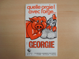 AUTOCOLLANT GEORGIE QUELLE ORGIE ! AVEC L'ORGE... - Stickers