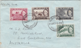 Malaya-Selangor 1957 Definitives FDC, - Selangor