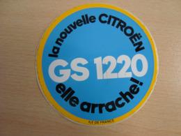 AUTOCOLLANT LA NOUVELLE CITROËN GS 1220 ELLE ARRACHE ! - Stickers