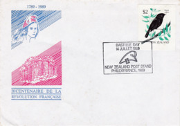 New Zealand 1989 Bicentenary French Revolution  Souvenir Cover, - New Zealand