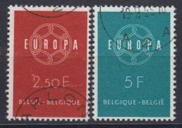 Europa Cept 1959 Belgium 2v Used (44624A) - 1959