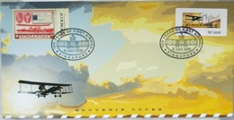 Singapore 2019, 100 Years Of First Airmail Flight. Cover Atm Frama - Post