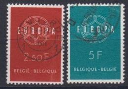Europa Cept 1959 Belgium 2v Used (44624B) - 1959