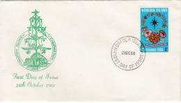 Norfolk Island 1968 Christmas FDC - Norfolk Island