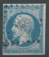Lot N°50460  Variété/n°14A, Oblit PC 944 Le Conquet, Finistère (28), Ind 9, Filet SUD - 1853-1860 Napoléon III.