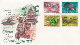 Papua New Guinea 1972 Reptiles ,Wesley FDC, - Papouasie-Nouvelle-Guinée