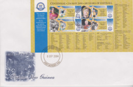 Papua New Guinea 2004 100 Years Of Footbal Miniature Sheet FDC - Papouasie-Nouvelle-Guinée