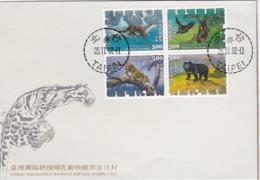 Taiwan 1992 Endangered Mammals FDC - 1945-... República De China